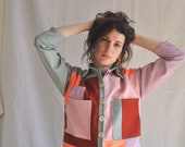 NENUPHAR. Sewing pattern, worker jacket, with or without patchwork - intermediate - FRANCAIS/ENGLISH