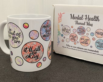 Coffee cups display 'survival tips' for Mental Health Month