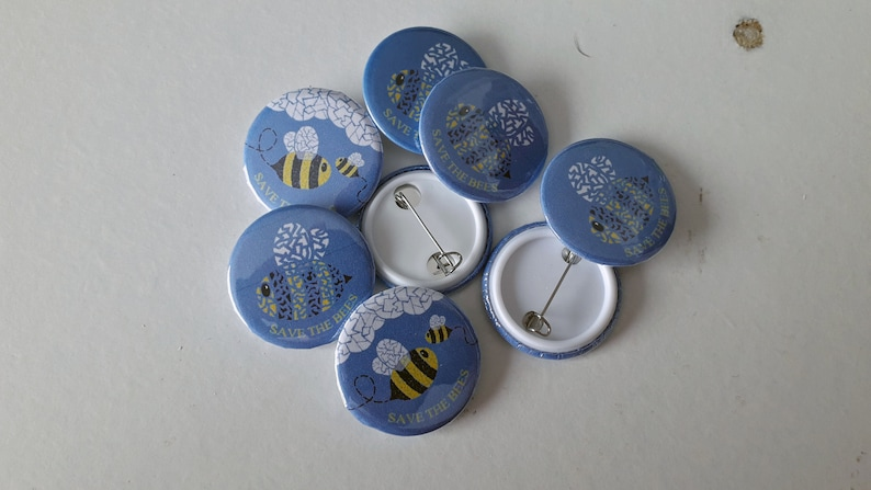 Save the Bees Badges