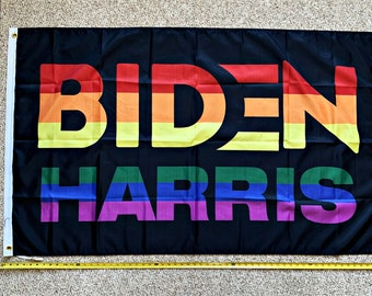 Joe Biden Flag FREE SHIPPING Kamala Harris 2024 Elect A Clown Black Democrat LGBTQ Rainbow Gay Sign Poster 3x5/'
