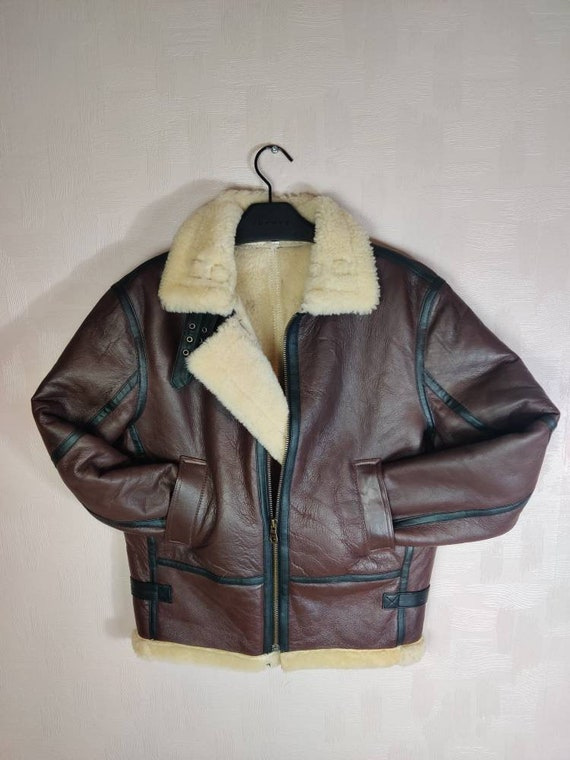 Shearling Leather B3 Bomber Jacket