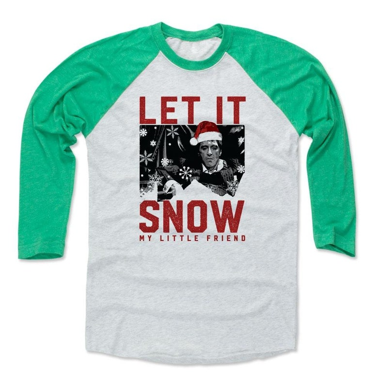 Scarface Christmas Shirt Raglan Tony Montana Seasonal Etsy