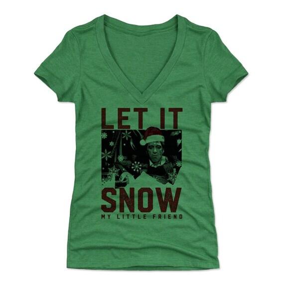 Scarface Christmas Womens V Neck T Shirt Tony Montana Etsy