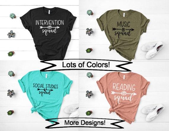 Teaching Squad T Shirts Reading Math Science Social Etsy