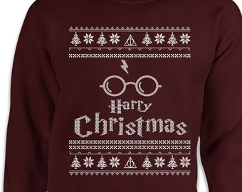 14cb21997 Harry Christmas Wizard Funny Ugly Christmas Sweater Movie Sweater Gift for  Wizard Fan Movie Shirt, Potter Shirt Gift for Potter