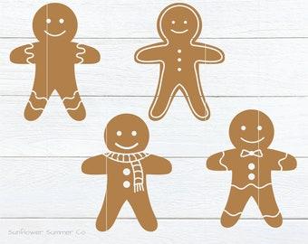 Gingerbread svg- gingerbread men svg - christmas cookie svg- chirstmas svg files - gingerbread clipart- holiday svg