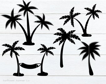 Palm tree svg - summer svg- palm tree clipart- tropical svg- palm tree bundle - sea svg