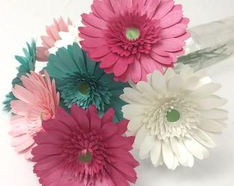 Paper Gerbera Daisy Template- Paper flower template - 3d paper flower- easy paper flower - flower svg-