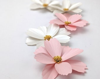 Paper Cosmos Template- Paper flower template- cricut flowers- SVG- small paper flowers