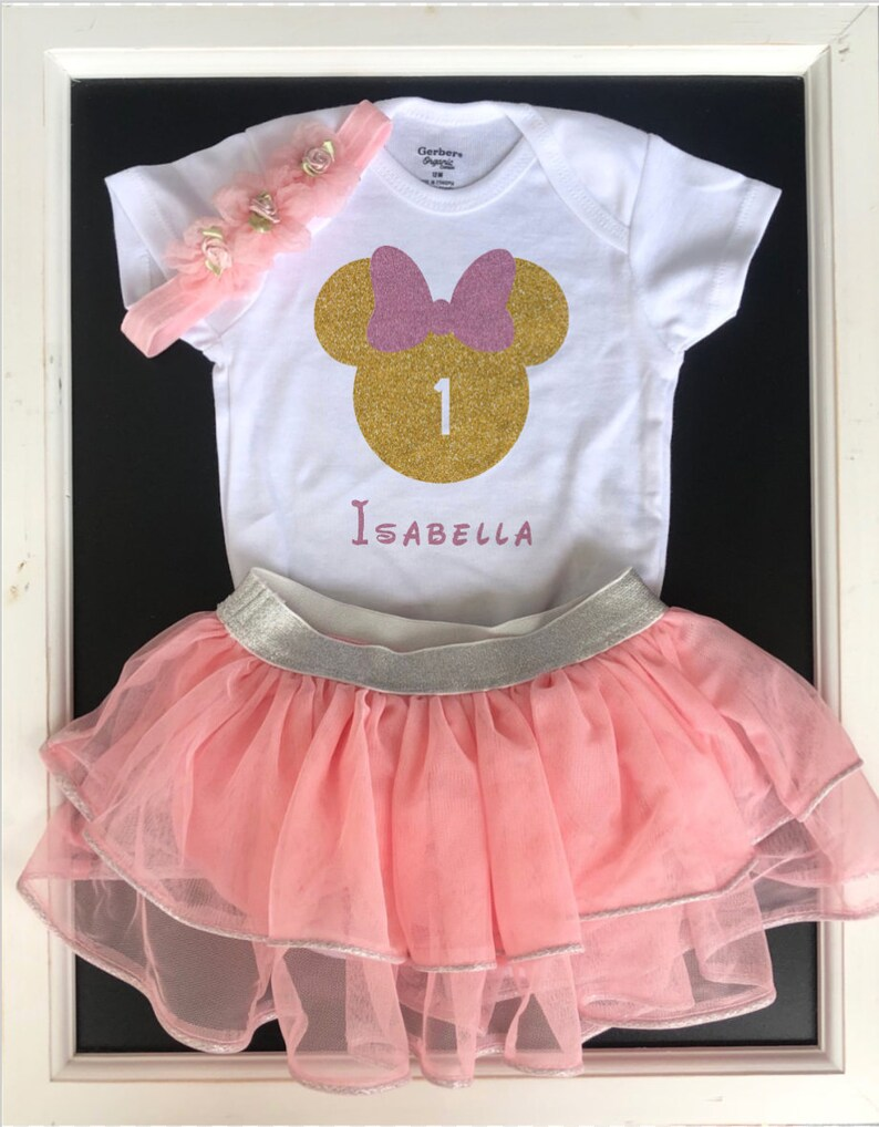 baby girl Disney outfit Baby Girl Minnie Onesie birthday onesie coming home Take home onesie hospital gown