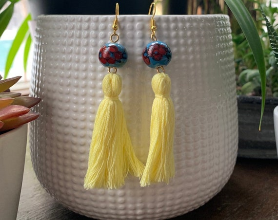 Colorful Tassel Earrings | Gift for her | Perfect for Spring | Lightweight | Trendy