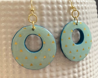 Mixed Media Hoop Earrings