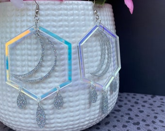 Celestial Laser Cut Statement Earrings / Lightweight / Modern / Geometric / Available in 2 sizes!