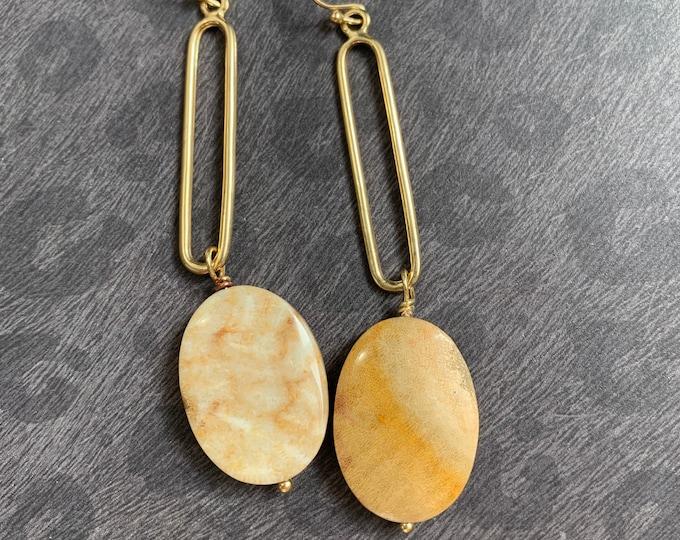 Fossil Coral Dangle Earrings