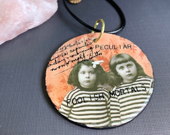 Creepy Mixed Media Halloween Necklace   Spooky   Make A Statement   Horror Aesthetic