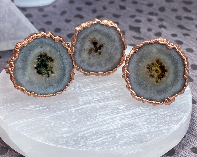 Stalactite & Copper Rings / Listing Is For 1 Ring / Great Gift Idea