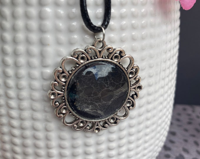 Real Preserved Spiderweb Necklace / Only 2 Available / Goth Jewelry