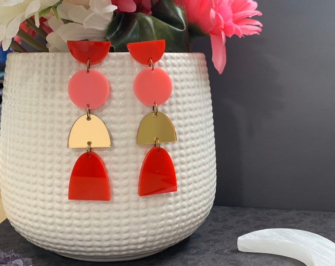 13 Color Ways! Laser Cut Statement Earrings / Bright Stars Collection style Navi / Unique / Lightweight / Handmade
