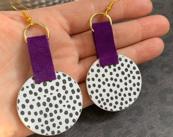 Mixed Media Polka Dot Earrings