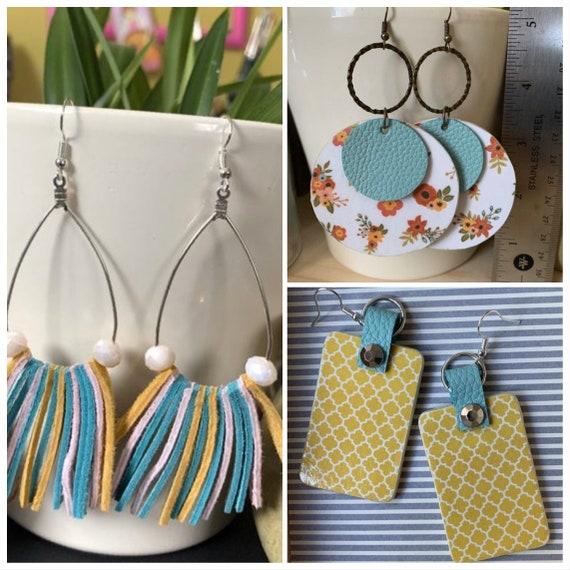 Set of 3 handmade Statement Earrings | Gift for Her | Trendy | Stylish | Lightweight | Boho Style