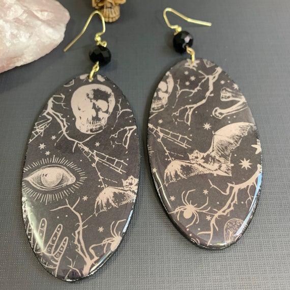 Extra Large 'All Things Witchy' Earrings   Spooky Jewelry   Lightweight   Halloween   Statement Earrings   Gift for Her