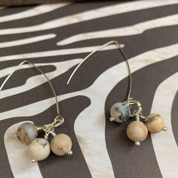 Pink Tormaline Beaded Earrings | Handmade | Lightweight | Simple style