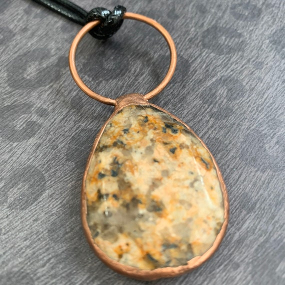 Jasper and Copper Pendant