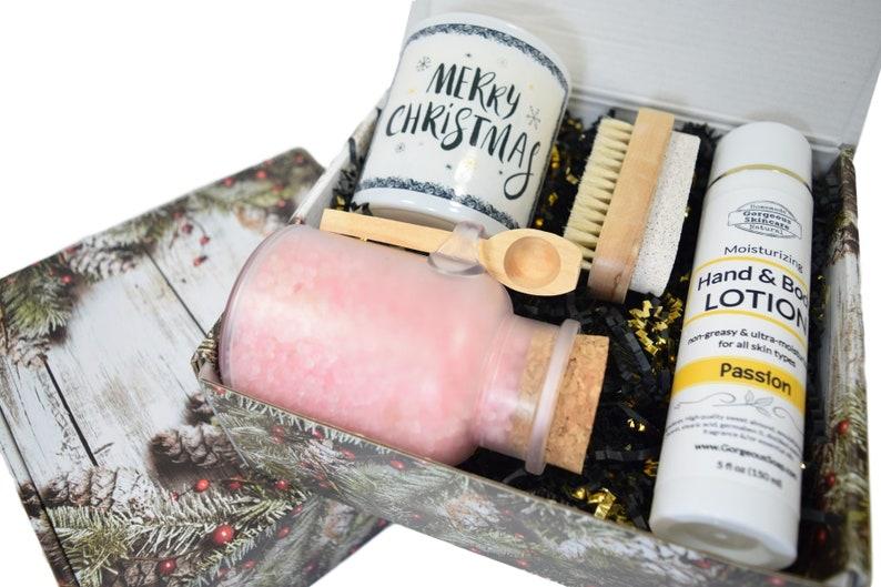 Christmas Gift Box Gift Box For Her Christmas Gift Basket Etsy
