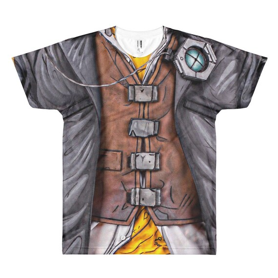 Borderlands Video Game Handsome Jack Cosplay Shirt Costume Cell Shaded Gamer Gift All Over Printed Front Back Unisex T Shirt All Sizes