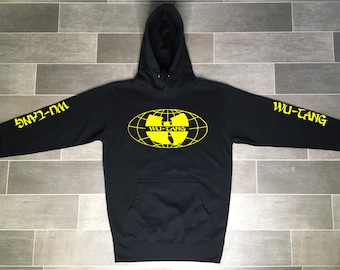 d1536cdfe1 Wu-Tang Clan Hoodie Mens Womens Hip Hop Hoodies RZA GZA Method Man U-God Wu  Tang Worldwide Logo Wu Wear Hoodie Black Yellow Wu Tang Logo