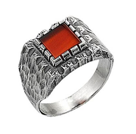 free express shipping agate aqeeq ring sterling silver 925 dark red semi precious natural gemstone men jewelry any size