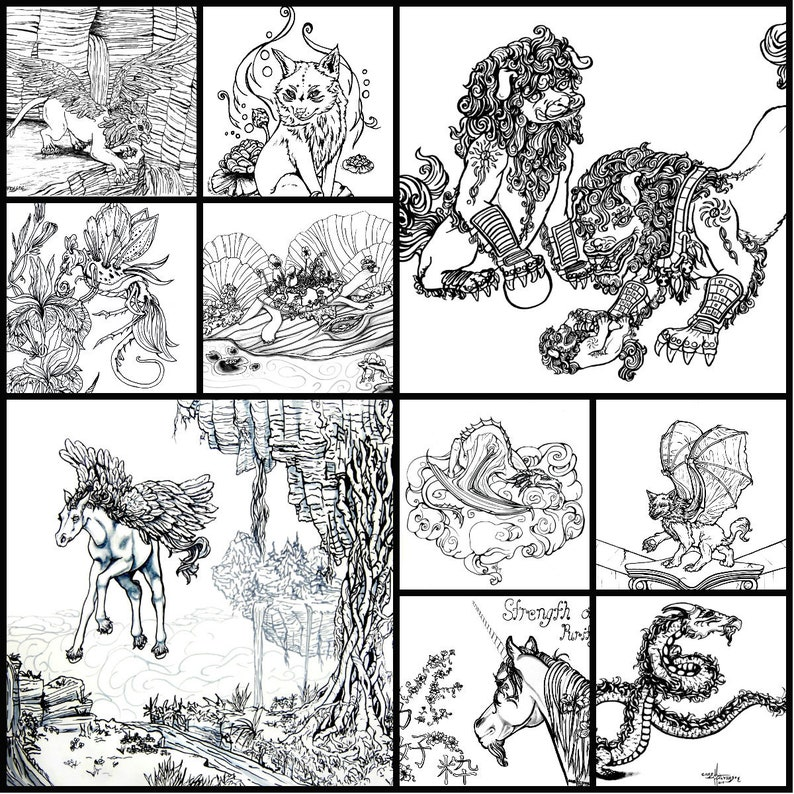 Printable Coloring Pages: Mythical Collection 1 image 0