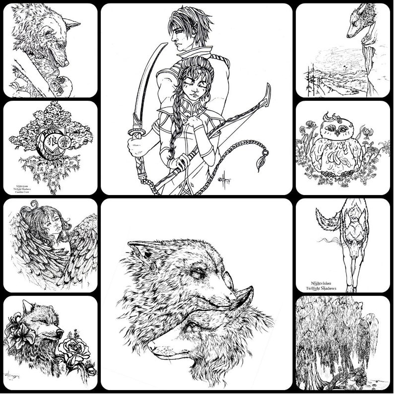 Printable Coloring Pages: Nightvision Collection 1 image 0