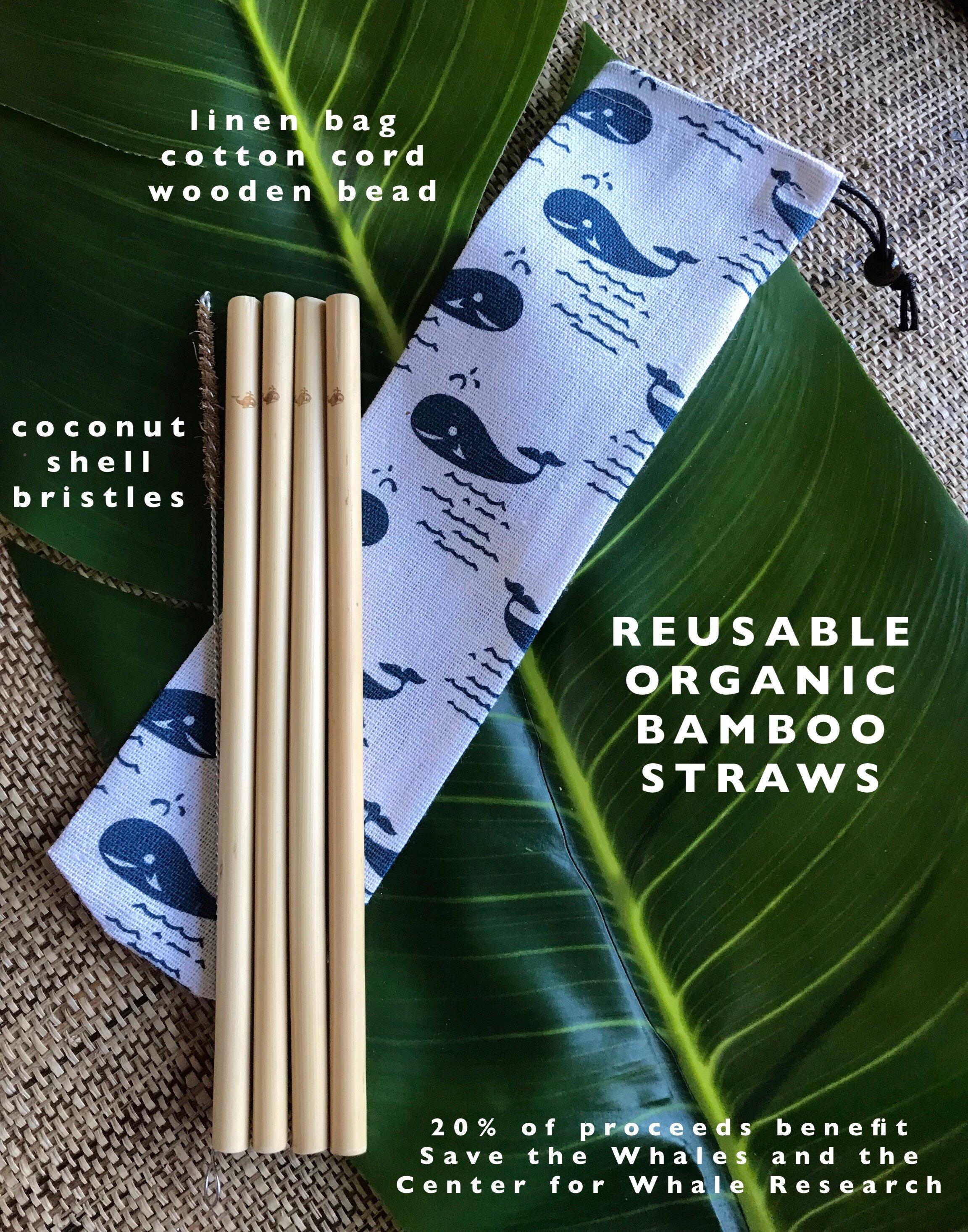 FREE SHIPPING to US - Custom Bamboo Straw Packs: Organic