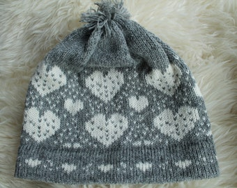 617a6448b8b Nordic Style 100% Pure Wool Cozy and Soft Winter Girls Children Women Pom  Pom Hat