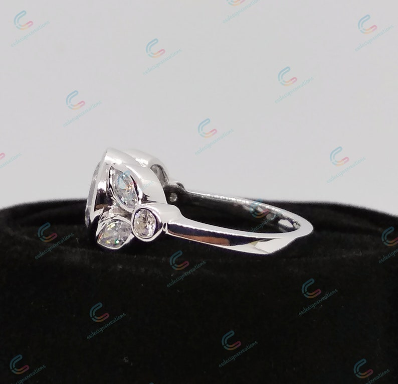 2.25 Ct Round Cut Cz Diamond Engagement Ring In 925 Sterling Silver For Women Wedding Ring Bezel Ring Beautiful Ring Nature Inspired Ring