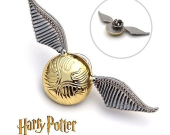The Golden Snitch Badge Deathly Hallows Brooch On Pin Harry Potter Gryffindor Seeker