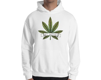 83d74f24 All Natural Hoodie, Pot Leaf Hooded Sweatshirt, All Natural Marijuana  Hoodie For Stoners and 420 Smokers