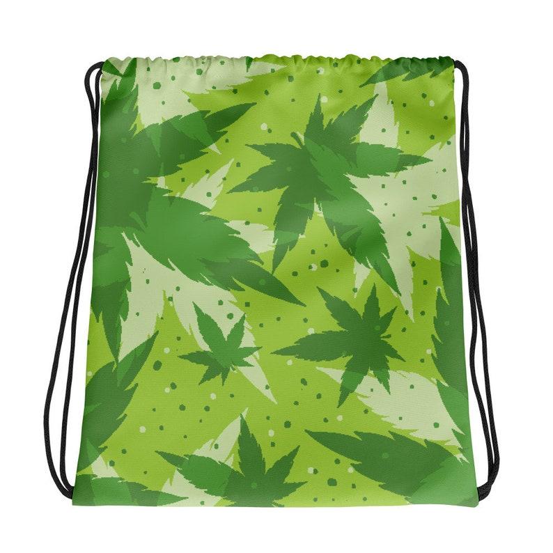 Stash Bag for Cannabis Smokers Urban Weed Stash Bag Marijuana Drawstring Bag for Smokers and Budtenders