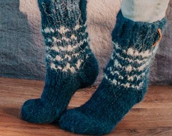 Size 41-42 Wool Socks hand knitted hand knitted socks woolensocks Sock Withroll Bundle Socks for Women/'s stockings for Women/'s Unicorn Socks