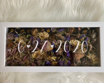 Wedding Flowers Shadow Box date only
