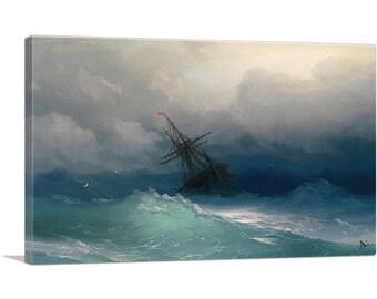 Mermaid Stormy Sea Dove Rock A1 A2 A3 A4 A5 Vintage Art Print Poster