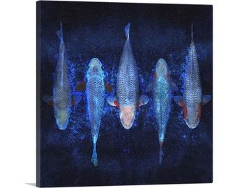 ARTCANVAS Kinginrin Koi Carp Fish Japan China Asia Canvas Art Print