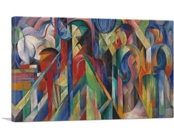 ARTCANVAS Stables 1913 Canvas Art Print by Franz Marc
