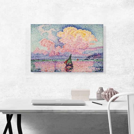 Artcanvas Antibes The Pink Cloud 1916 By Paul Signac Canvas Etsy