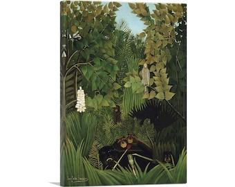 ARTCANVAS The Merry Jesters 1906 by Henri Rousseau Canvas Art Print