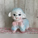 Vintage Lamb Planter, Animal Planter, Nursery Decor, Baby Shower Gift
