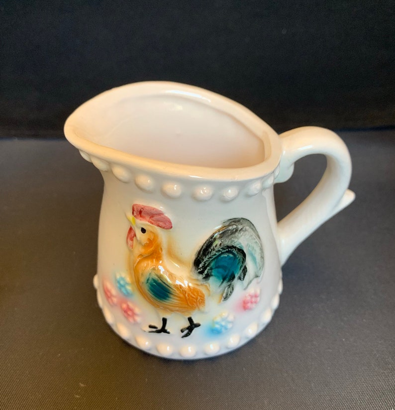 Measuring Bowl Vintage Chicken Measuring Cups Farmhouse Decor Kitchen Table Ceramic Beaded Cups