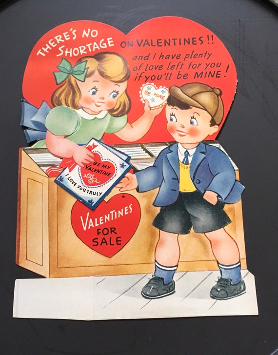 Vintage 1940 S A Meri Card Mechanical Valentine S Etsy
