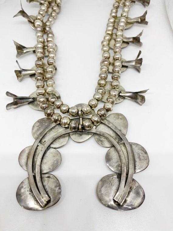 turquoise squash blossom necklace - image 4